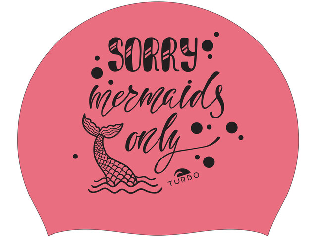 Turbo Sorry Mermaids Only Gorro de natación, coral